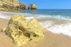 Beach in Albufeira, Portugal Stock Image