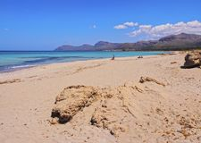 Beach of Alcudia Bay on Majorca Stock Image