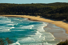 Beach at Alexandria Bay, Noosa Heads, Qlds stock images