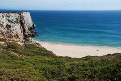 A beach in Algarve. The beach is near Sagres and cape st Vincent, Portugal Stock Images