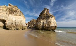 Beach in Algarve 2 Stock Photos