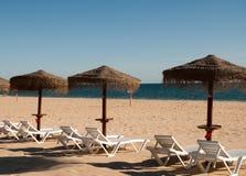 Beach in Algarve at autumn Stock Photo