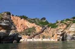 Beach in Algarve, Portugal Royalty Free Stock Photos