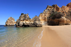 Beach at the Algarve. Portugal Royalty Free Stock Image