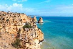 Beach of the Algarve in Portugal Stock Photos