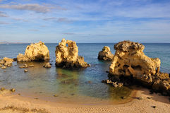 Beach in Algarve, Portugal Royalty Free Stock Photography