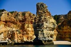 Beach in Algarve, Portugal. Rocky beach in Algarve, Portugal Royalty Free Stock Images