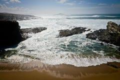 Beach in Algarve, Portugal. Rocky beach in Algarve, Portugal Stock Images