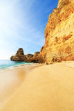 Beach in Algarve region, Portugal. A view of a Praia da Rocha in Portimao, Algarve region, Portugal Royalty Free Stock Image