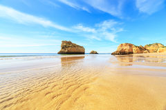 Beach in Algarve region, Portugal. A view of a Praia da Rocha in Portimao, Algarve region, Portugal Stock Photography