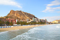 Beach in Alicante Stock Image