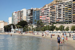 Beach in Alicante, Spain Stock Photography