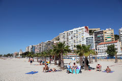 Beach in Alicante, Spain Royalty Free Stock Photos