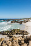 The beach along the coast of Monterey, California. A view of a  beach along the coast of Monterey, California Stock Photography