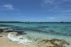 Beach along Isla Catalina, Dominican Republic Royalty Free Stock Photos