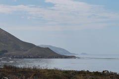 Beach along Monterey coast, California stock images