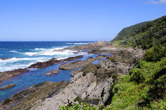 Beach along the Otter Hiking Trail, South Africa Royalty Free Stock Photos