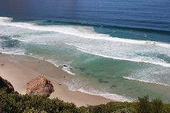 Beach along south africas coastline. At the indian ocean royalty free stock photography
