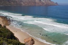 Beach along south africas coastline. At the indian ocean royalty free stock images