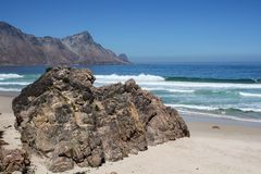 Beach along south africas coastline. At the indian ocean stock photography