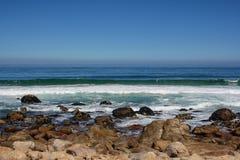 Beach along south africas coastline. At the indian ocean royalty free stock photos