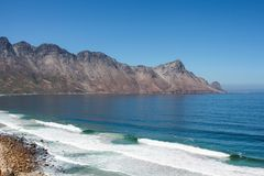 Beach along south africas coastline. At the indian ocean stock image