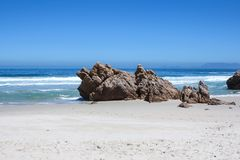 Beach along south africas coastline. At the indian ocean royalty free stock image