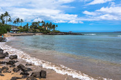 Beach along Wailea coast in Maui, Hawaii Stock Photo