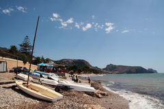 Beach in Altea Stock Photography
