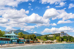Beach in Alushta, Crimea Stock Image