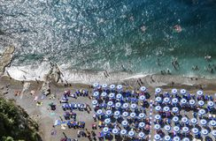 The beach on Amalfi Coast. Vico Equense. Italy Stock Photos