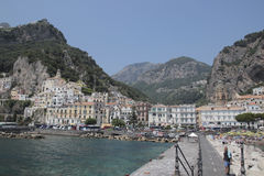 Beach of Amalfi, Italy Stock Photo