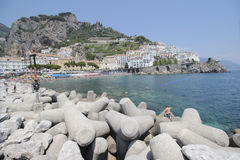 Beach of Amalfi, Italy Royalty Free Stock Photo