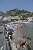 Beach of Amalfi, Italy Royalty Free Stock Images