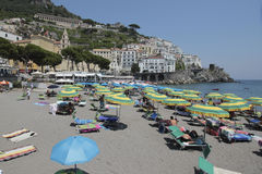 Beach of Amalfi, Italy Royalty Free Stock Image