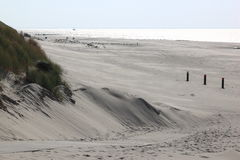 Beach of Ameland Island near Hollum, Netherlands royalty free stock photos