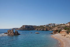 The beach of Amopi on Karpathos Stock Photos