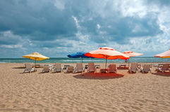 Beach in Anapa on the Black Sea, Russia Royalty Free Stock Photos