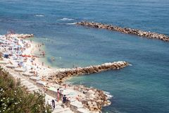 The beach of Ancona Royalty Free Stock Photography