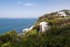The beach of Ancona stock images