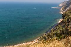 The beach of Ancona Royalty Free Stock Photo