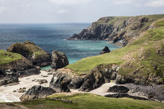 Beach And Cliffs At Kynance Cove, Cornwall, England Royalty Free Stock Images