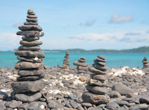 Free Beach And Piles Of Stones Royalty Free Stock Photography - 10751317