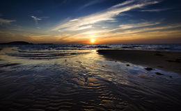 Beach And Sunset Royalty Free Stock Image