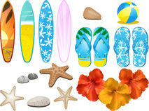 Beach And Tropical Elements Stock Images