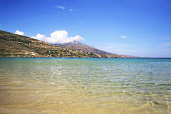 Beach in Andros island Greece royalty free stock images