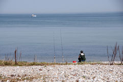 beach angler Stock Photography