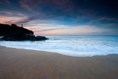 Beach of Anglet Stock Photo