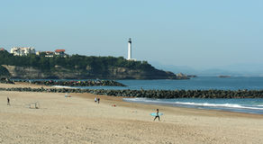 Beach of Anglet Stock Images