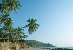 Beach of Anjuna Royalty Free Stock Photography